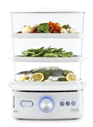Homend 2401 S3 Steamcooker Buharlı Pişirici Beyaz